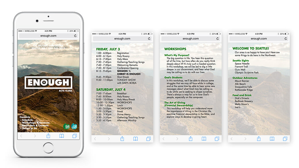 Digital version of brochure designed to fit within a smartphone browser or PDF reader.